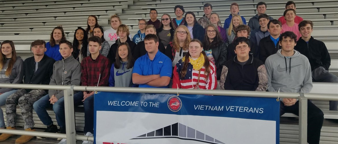 CCHS Students went to see The Wall That Heals Vietnam Memorial in Paducah - 10/25/18