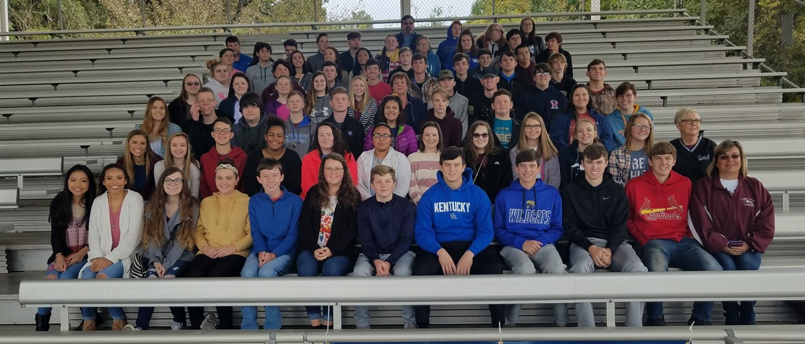CCHS Students who went to see The Wall That Heals Vietnam Memorial in Paducah - 10/25/18