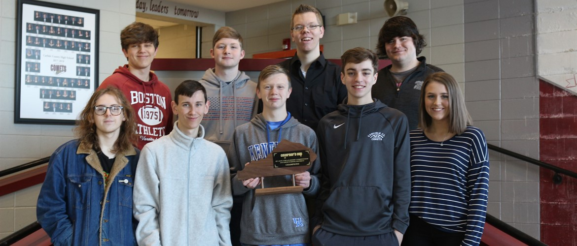 CCHS Governor's Cup - District Champions  Zach Dowdy – 1st in Mathematics, 5th in Composition; Trace Hook – 1st in Science, 3rd in Language Arts; Peyton McDaniel – 2nd in Social Studies, 2nd in Language Arts; Koleman Yarbrough – 4th in Social Studies; Kaitlyn Draper – 4th in Language Arts, 2nd in Composition; Brandon Lee – 1st in Arts and Humanities; Zack Miller – 2nd in Arts and Humanities.  The varsity Academic Team took 1st place in Quick Recall, and CCHS took first place overall.