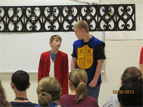 CCMS Theater Students performing Romeo and Juliet