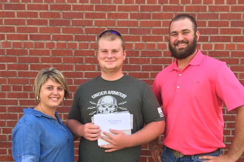 Congratulations to Adrion Daughenbaugh, 2016 Graduate of CCHS for receiving $1000 in reward money for grants and proficiency applications submitted by the local Carlisle County FFA Chapter.  Adrion received a Silver rating on his National Proficiency Application in Forest Management and Production.
