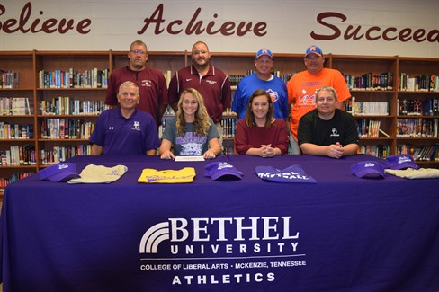 Brittany Morris signs to play ball for Bethel University!  Congrats Brittany!