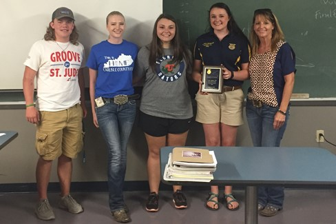 FFA Land Judging Team 1st Place in Region!  Congrats!!