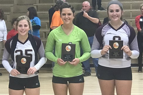 CCHS Volleyball All-District Team  L to R: Michelle Moore, Maddie Martin, Kaitlyn Draper