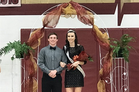 CCHS Homecoming King Michael Thomason and Queen Alana Coffey!