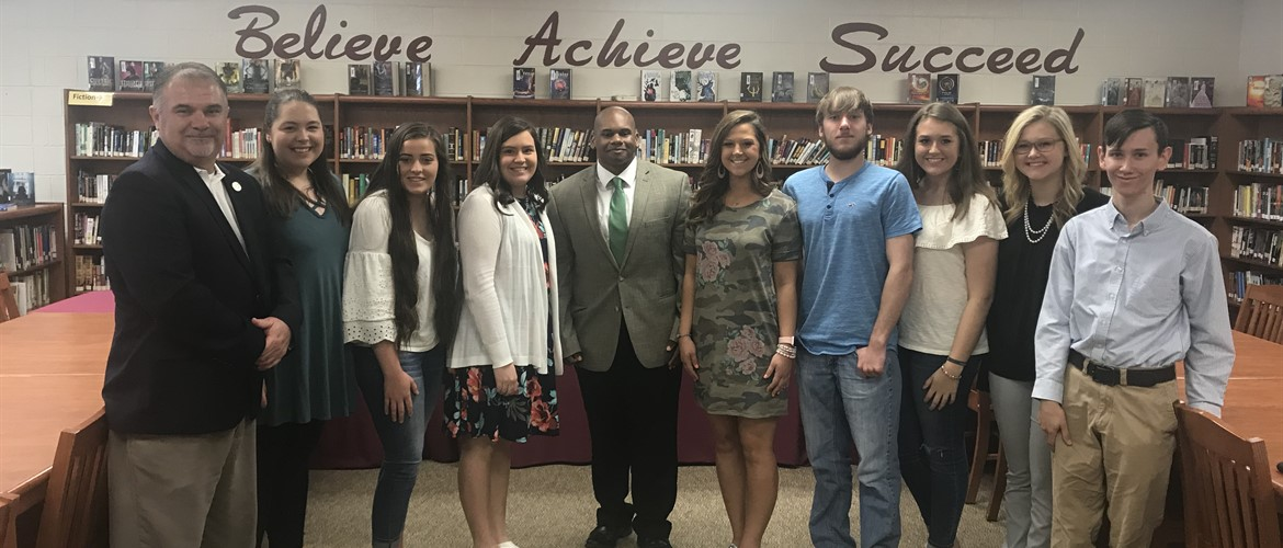 CCHS students and faculty meet Interim Commissioner of Education, Dr. Wayne D. Lewis Jr., on site visit Friday May 11th.