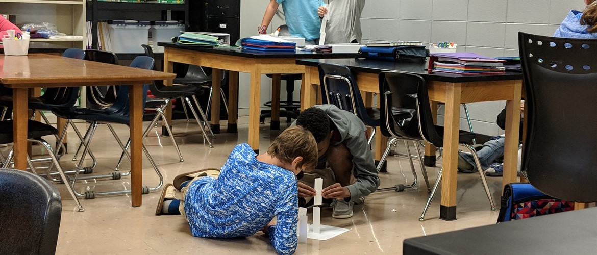 Science Lab in Mrs. Gilbert's class - 9/6/18