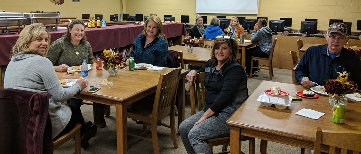 CCEA and Mrs. Gilbert's Leadership Class fed 71 Education Support Professionals during American Education Week...Thanks for all you do for each of us daily! - 11/14/18